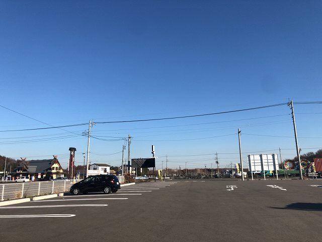 ダダっ広い駐車場2道路向かいには坂東太郎2.jpg