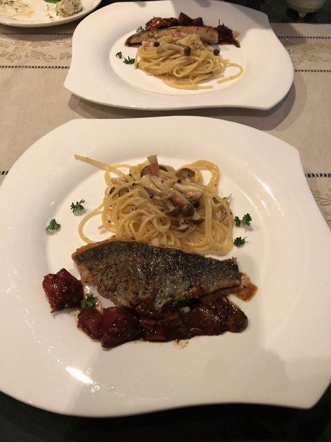 デ1パスタと焼き魚1.jpg
