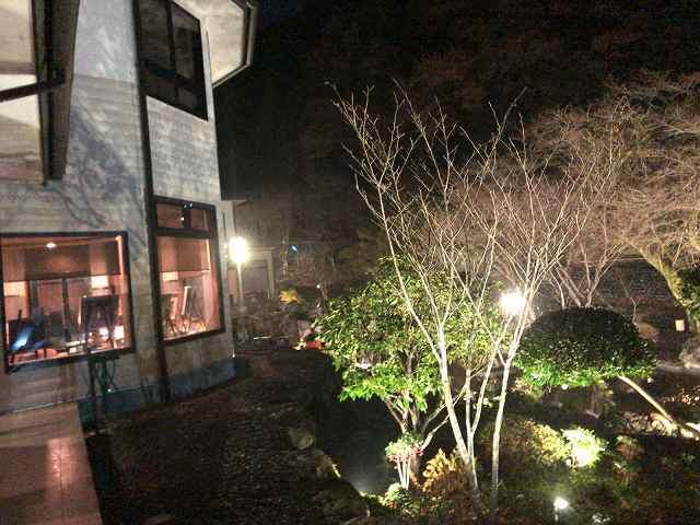 夜14船山館入口側から池を見る.jpg