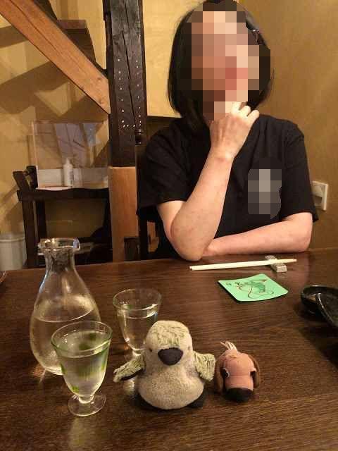 宴37会津の銘酒花泉辛口を久々に飲む何故にプチ公がいる?-1.jpg