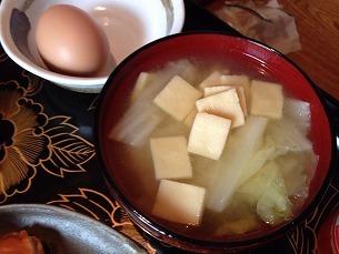 打ち豆と白菜と豆腐の味噌汁.jpg