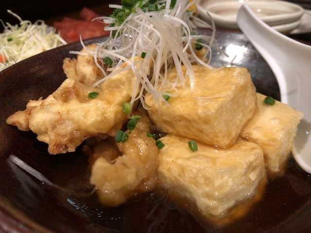 揚げ出汁豆腐&鶏天3.jpg