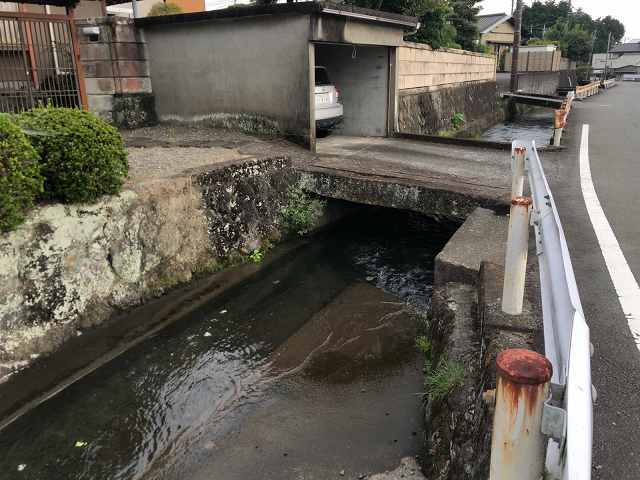 水路19真っすぐ流れて住宅前の水路へ.jpg