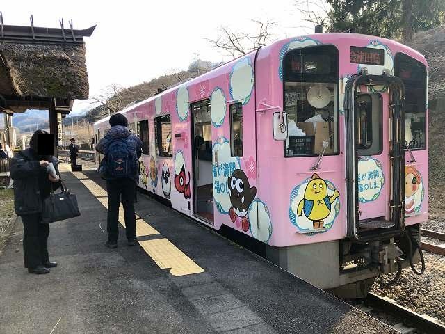 湯野上温泉駅に着いた1.jpg