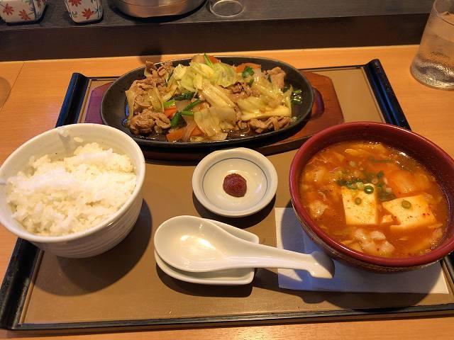 牛野菜炒1チゲスープ1.jpg