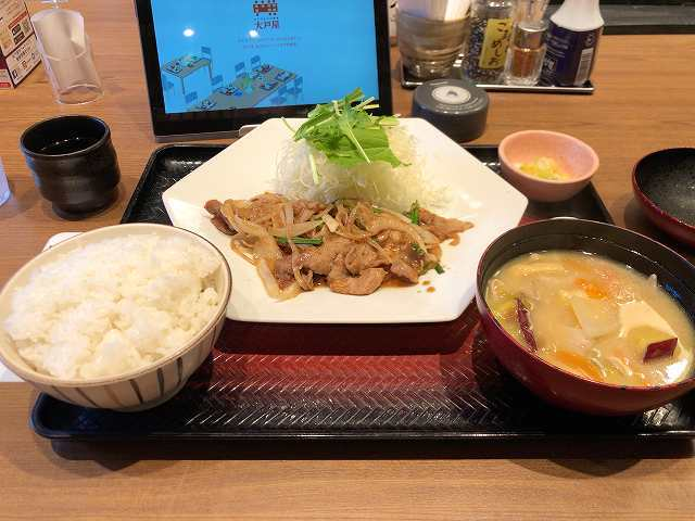 生姜焼1豚汁1.jpg