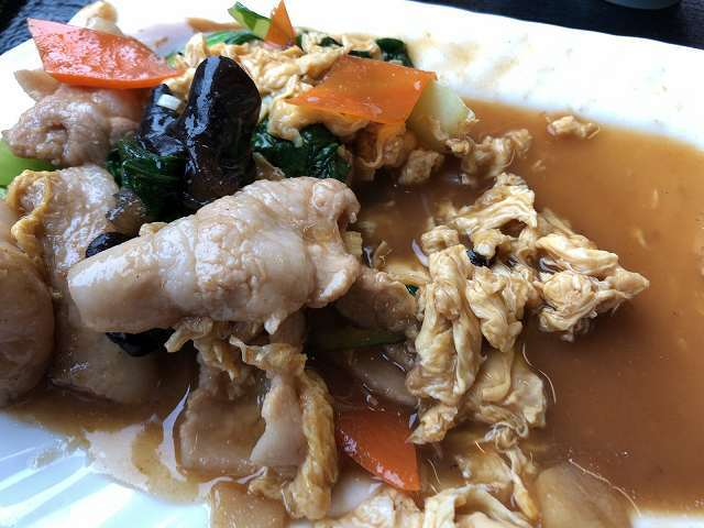 肉野菜玉子炒め11後半は箸で摘まみ難くなる.jpg