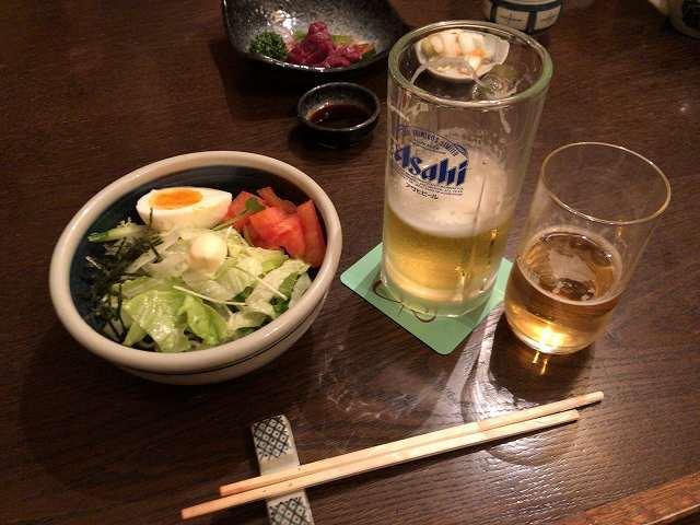 蕎麦サラダ1ビールが合う.jpg