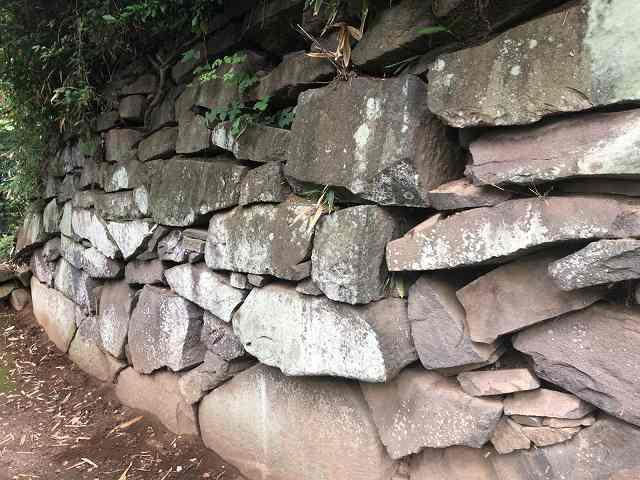 西櫓台石垣9自然の打ち込みか?1.jpg